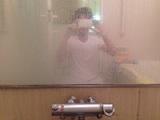 浴室 鏡 クリーニング前